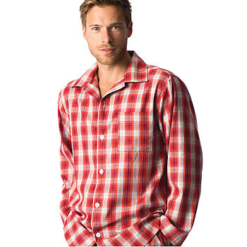 Men's Brushed Cotton Tartan Pyjamas