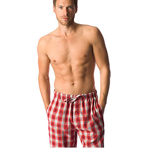 Men's Brushed Cotton Tartan Pyjama Bottoms - nightwear