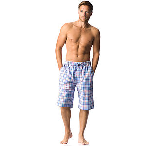 Men's Checked Pyjama Shorts: More Colours - nightwear