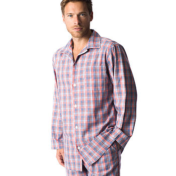 Mens Brushed Cotton Check Pyjamas