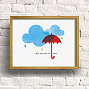 'Here Comes The Rain Again' Print