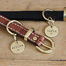 Merry Dogs 1in brass dog ID tag - Your Dogs Name - Willow and Alfie