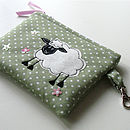 Embroidered Sheep Purse
