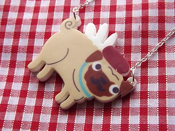 French Pug Necklace