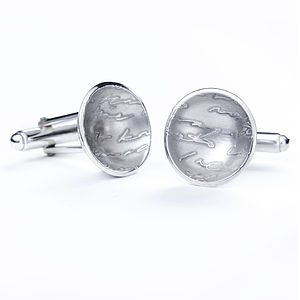 Silver Diary Button Cufflinks - jewellery
