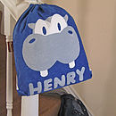 Personalised Henry Hippo Nursery Bag