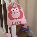 Personalised Peggy Pig Nursery Bag