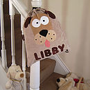 Personalised Digby Dog Nursery Bag