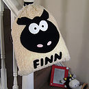 Personalised Woolly Sheep Nursery Bag