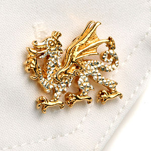 Welsh Dragon Cufflinks - men's accessories