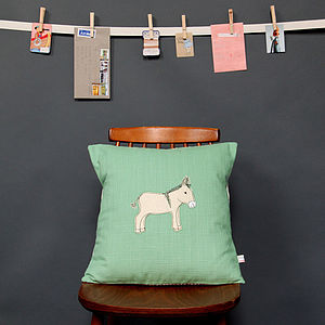 Embroidered Cushion Donkey - cushions