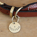 Merry Dogs 1in brass dog ID tag - Your Dogs Name - Tallulah