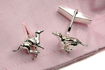 Sterling Silver Greyhound Cufflinks