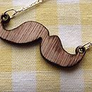 Moustache Charm Necklace