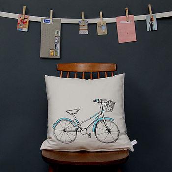 Printed Cushion Bicycle