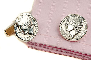 Roman Coin Cufflinks - cufflinks