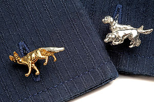 Fox And Hound Cufflinks - men's accessories