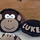 Personalised Melvin Monkey Cushion