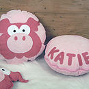 Personalised Peggy Pig Cushion