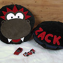 Personalised Dizzy Dinosaur Cushion