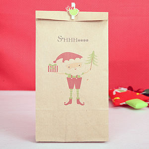 Secret Santa Gift Bag With Name - gift boxes