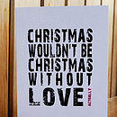 Pack Of Four Love Actually Christmas Greetings Cards