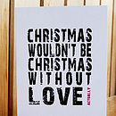 Pack Of 4 Christmas Wouldn't Be Christmas Without Love Actually Cards