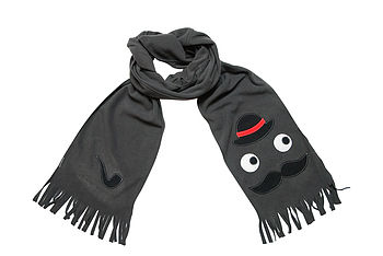 Men's Moustache And Pipe Scarf