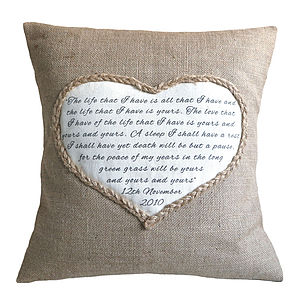 Lavender Heart Cushion - gifts for her