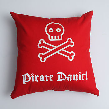 Personalised Pirate Cushion