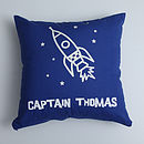Personalised Rocket cushion cover