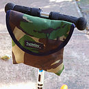 Camouflage Print Child's Scooter Or Bike Bag Front