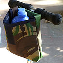 Camouflage Print Child's Scooter Or Bike Bag Open Front
