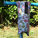 Birdies Print Child's Scooter Bottle Bag Open