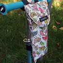 Birdies Print Child's Scooter Bottle Bag Front side
