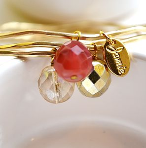 Multi Gold Bangles Made With Swarovski Crystals - women's jewellery