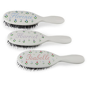 Personalised Floral Mason Pearson Hairbrush - christening gifts