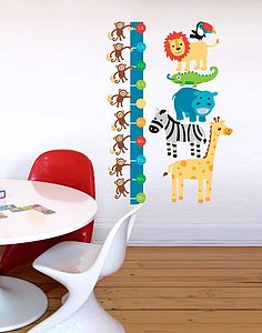 Jungle Stack Height Chart Wall Sticker - wall stickers