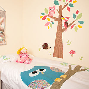 Little Owl Duvet Cover - bed linen & cot bedding