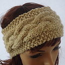 Knitted Alpaca Headband