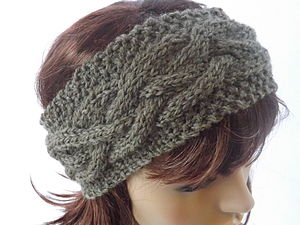 Knitted Alpaca Headband - hats, scarves & gloves