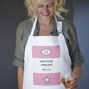 Women's Personalised Library Classics Apron - kitchen accessories