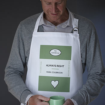Men's Personalised Library Classics Apron