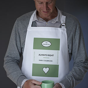 Men's Personalised Library Classics Apron - kitchen accessories