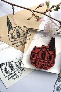 Personalised Wedding Venue Stamp - parties