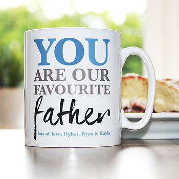 Personalised 'Favourite Father' Mug