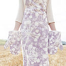 Mauve Cow Parsley Apron