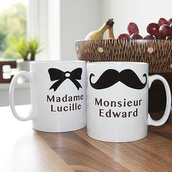 Personalised 'Madame' Or 'Monsieur' Mug