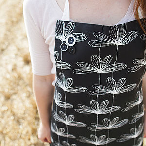 B&W Etched Floral Apron - view all sale items