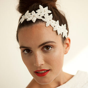 Hand Beaded Floral Headpiece